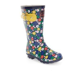Mini Boden Flower Print Rain Boots size 35